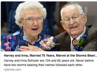 Harvey & Irma 75th anniversary